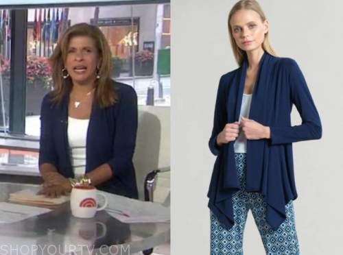 hoda kotb, navy blue cardigan sweater, the today show
