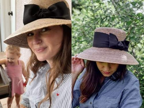 ashlee frazier, the bachelor, straw bow hat