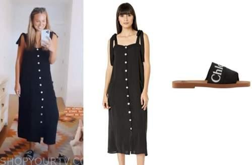hannah brown, the bachelorette, black dress, black sandals