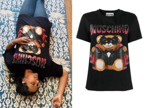 mindy kaling, black teddy bear tee
