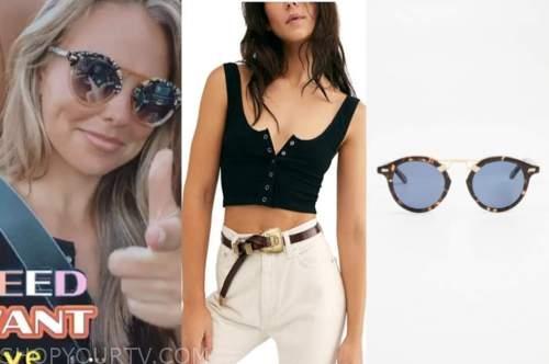 hannah brown, the bachelorette, black top, sunglasses