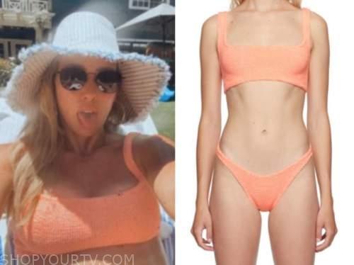 hilary duff, coral bikini