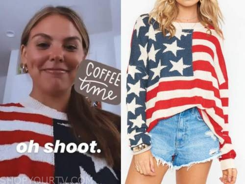 american flag sweater, hannah brown, the bachelorette