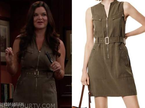 katie logan, heather tom, green dress, the bold and the beautiful
