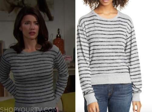 steffy forrester, the bold and the beautiful, striped sweater
