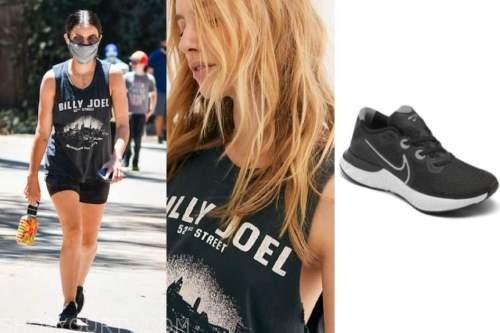 lucy hale, billy joel tee, black sneakers