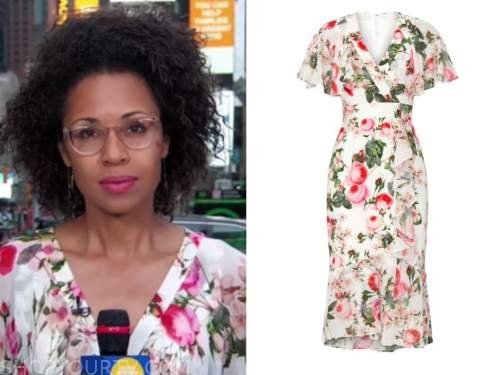 adrienne bankert, good morning america, floral dress