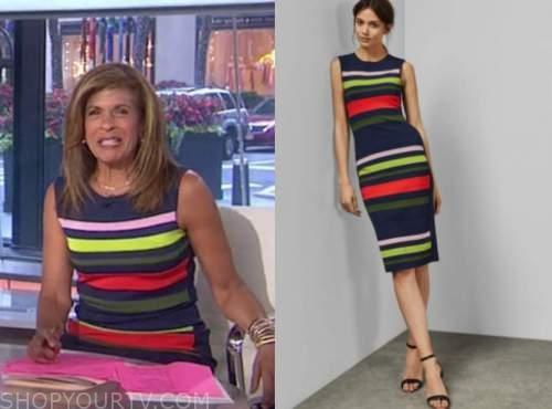 hoda kotb, the today show, striped knit dress