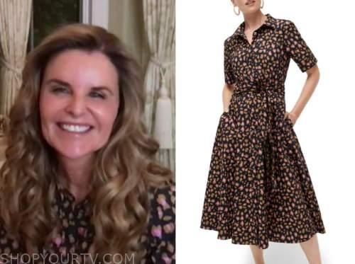 maria shriver, the today show, leopard shirt dress