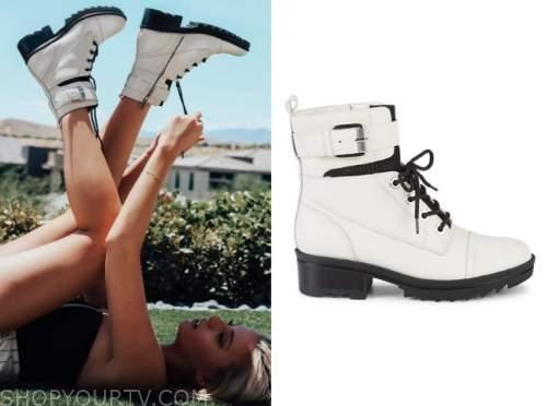 haley ferguson, the bachelor, white combat boots