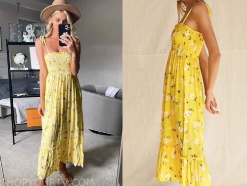 haley ferguson, the bachelor, yellow floral dress