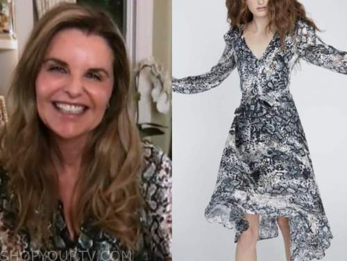 the today show, maria shriver, snakeskin dress