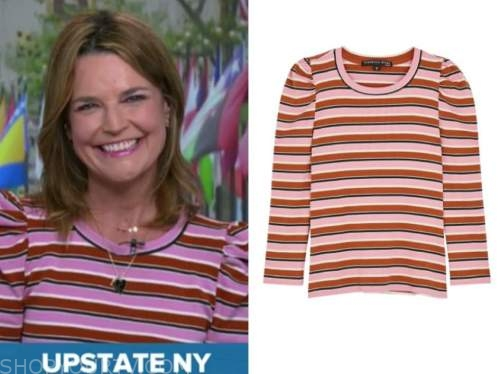 the today show, savannah guthrie, striped sweater