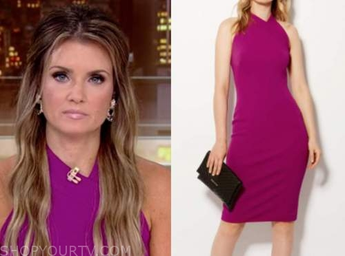 jillian mele, fox and friends, purple pink dress