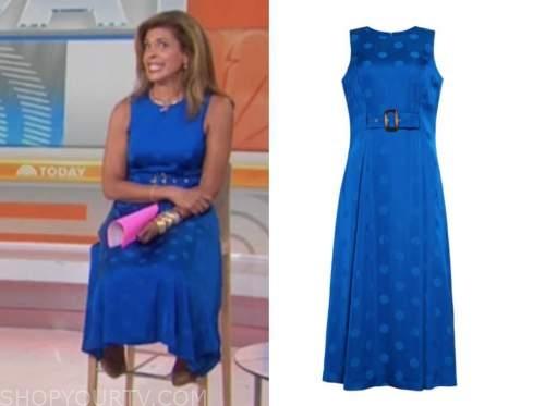 hoda kotb, blue polka dot dress, the today show