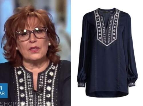 joy behar, embroidered blouse, the view