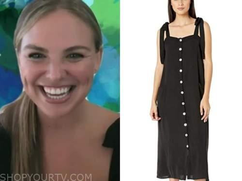 hannah brown, the bachelorette, black midi dress
