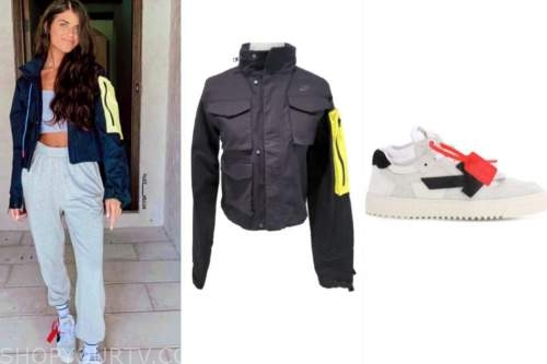 madison prewett, black and yellow jacket, sneakers, the bachelor