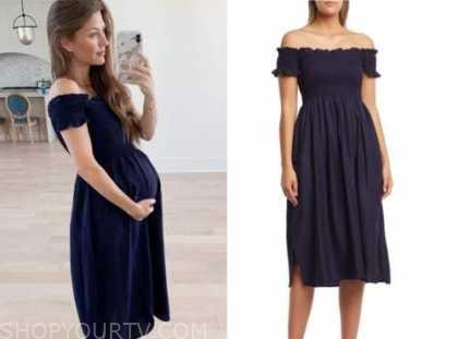 ashlee frazier, the bachelor, navy blue off-the-shoulder dress