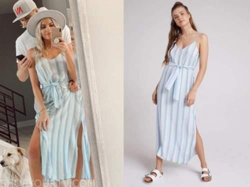 blue and white striped dress, the bachelor, emily ferguson