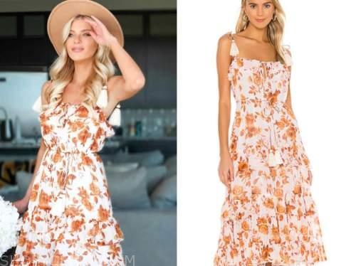 haley ferguson, the bachelor, floral tassel dress