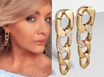 jenna cooper, chain drop earrings, the bachelor