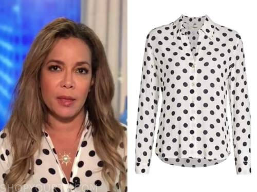sunny hostin, the view, polka dot blouse