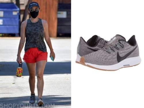 lucy hale, grey sneakers, sunglasses