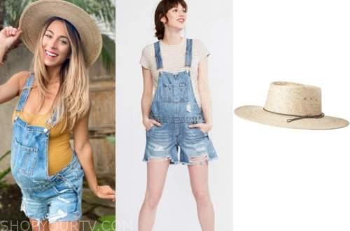 tenley molzahn, the bachelor, denim overalls, straw hat
