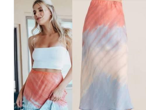 haley ferguson, the bachelor, tie dye skirt