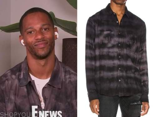 E! news, victor cruz, tie dye shirt