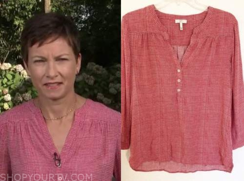 stephanie gosk, the today show, red printed blouse