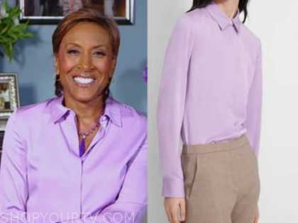 robin roberts, good morning america, purple shirt