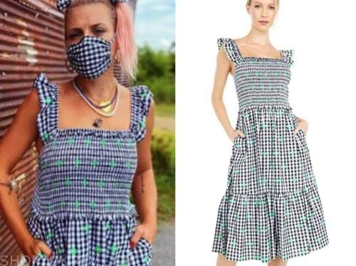 busy phillips, gingham dress