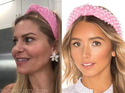 candace cameron bure, pink bead knot headband