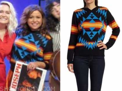 rachael ray, the rachael ray show, multicolor printed hoodie sweater