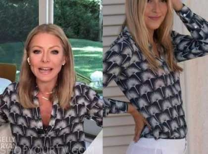 kelly ripa, printed tunic top, live with kelly and ryan