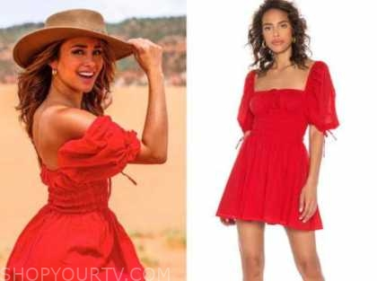 danielle lombard, red dress, the bachelor