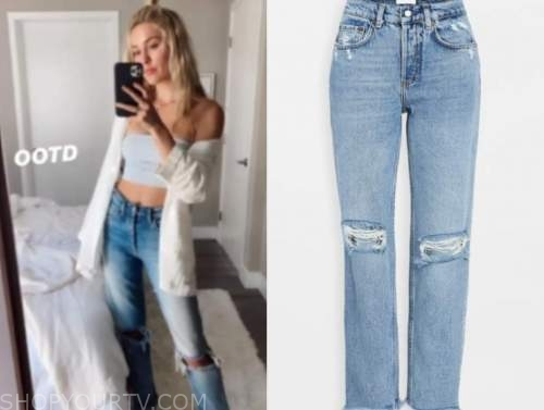 cassie randolph, the bachelor, ripped jeans