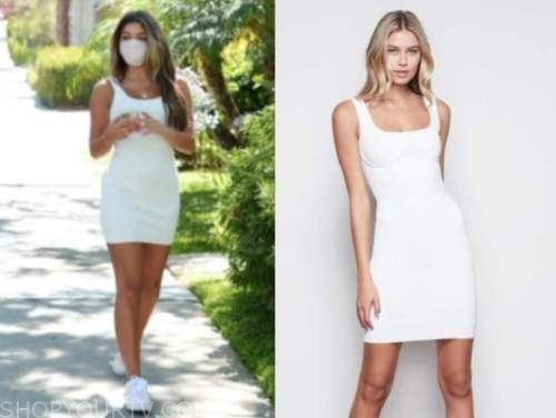 hannah ann sluss, the bachelor, white fitted dress