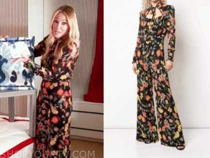 the today show, chassie post, floral jumpsuit