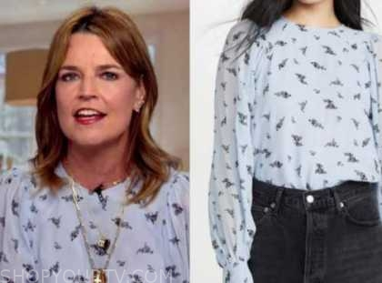 savannah guthrie, the today show, blue floral top