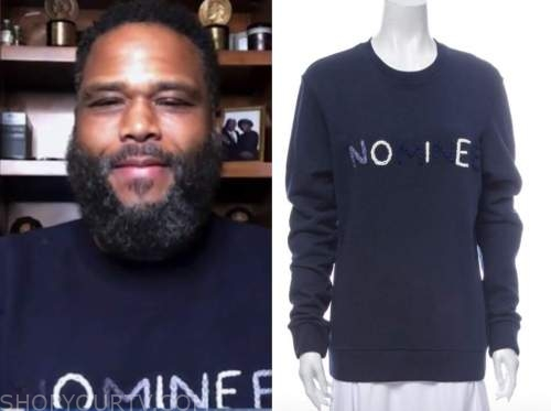 anthony anderson, blue sweater, good morning america