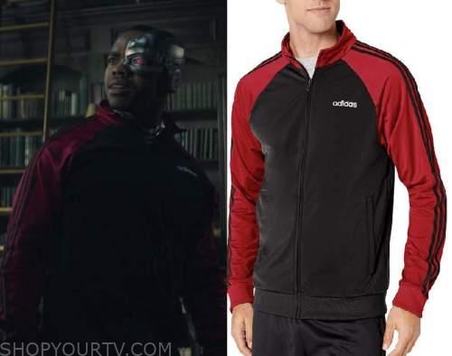 Doom Patrol Season 2 Episode 5 Cyborg S Black Red Track Jacket