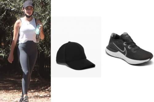 lucy hale, black cap, black sneakers