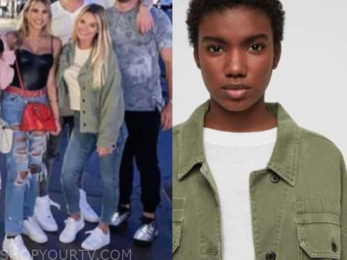 juliette porter, green jacket