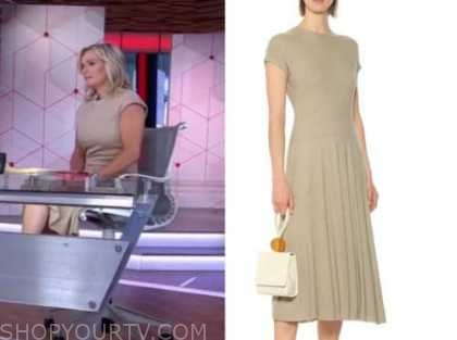 dr. jennifer ashton, beige knit dress, good morning america