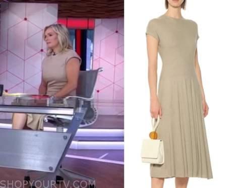 dr. jennifer ashton, beige knit dress, good morning america