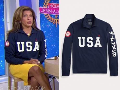 hoda kotb, the today show, navy blue USA sweater