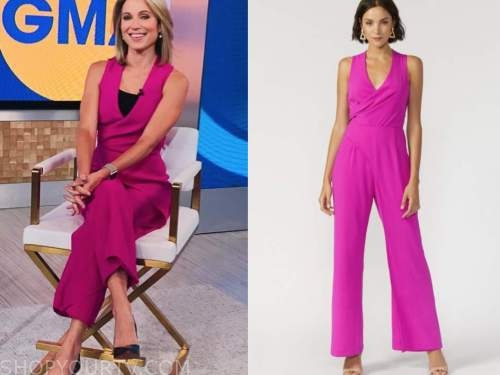amy robach, hot pink jumpsuit, good morning america